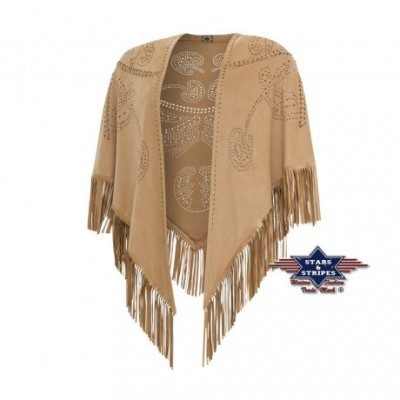 Fransenponcho in Wildlederoptik von Stars and Stripes
