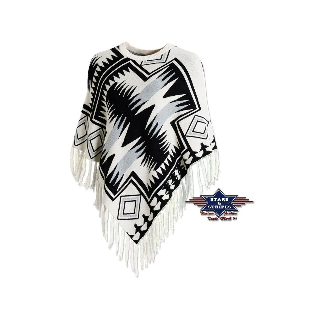 Strick-Poncho von Stars and Stripes